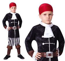 Childrens Pirate Captain Fancy Dress Costume Hook Halloween Outfit Kids Childs M