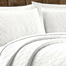TOMMY BAHAMA CATALINA  WHITE FULL / QUEEN COVERLET QUILT & SHAM SET