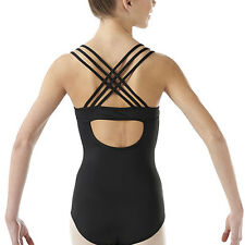 NWT Girls Leotard Child M or L Medium Large Child Liberts Dance Gymnastics Black