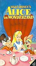 DISNEY ALICE IN WONDERLAND Clamshell VHS Masterpiece Collection LN Rare VINTAGE