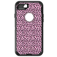 CUSTOM OtterBox Defender for iPhone 6 6S 7 PLUS Black Pink Leopard Skin Spots