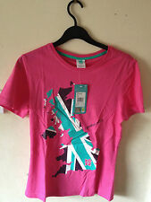 NEW London 2012 Official Olympics Women's T Shirt PINK size 12