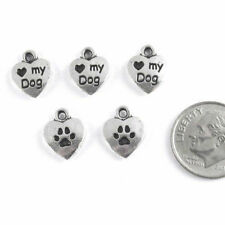 TierraCast Pewter Charms Tags-SILVER LOVE MY DOG HEART (5)