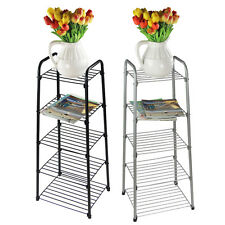 5 Tier Saucepan Fryingpan Pots Pans Chrome Plated Stand Holder Rack Shelf Unit
