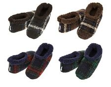 Mens Adult Snoozies Modern Plaid Range Slippers Assorted Colours and Sizes