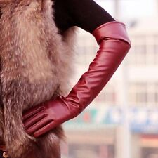 Fashion Long PU Leather Gloves Party Women Gloves Warm Outdoors Long Sexy Gloves