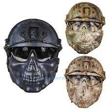 Airsoft Paintball Tactical Half Face Mask Helmet Goggle Hunting CS Games Ou TN2F