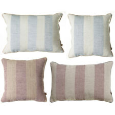 Scatter Box Serena Stripe Faux Linen Feather Filled Cushion