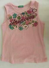 UNITED COLORS  BENETTON GIRL TANK TOP PRINCESS EMBROIDE