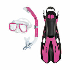 Head Tarpon2/Barracuda Volo Mask Snorkel Fins Set Scuba Diving Snorkeling Pink