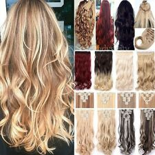 Long Real Thick Clip In Hair Extensions Long New Full Head Feel Human Hair Tnb