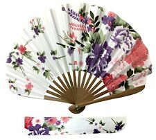 Handheld Fan Ascot Silk Fabric Folding Hand Held High Quality Fan for Women AS07