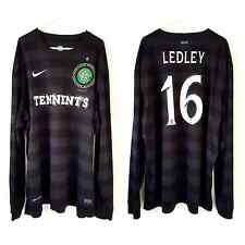 Long Sleeves Celtic Ledley Away Shirt 2012. XXL. Nike. Black Adults Football Top