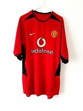 Manchester United Home Shirt 2002. Medium. Nike. Red Adults Man Utd Football Top