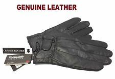 MENS 100%  LEATHER GLOVES THERMAL LINED BLACK DRIVING SOFT WINTER XMAS GIFT
