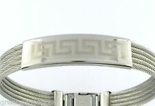 316L Stainless Steel Bracelet Laser Greek Design