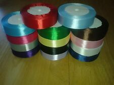 "6 yards (5.48 m) Satin Ribbon 1"" (25mm) 15 Colours Blue Pink Green Red White etc"