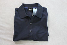 Boss Hugo Boss men dark blue slim fit cotton stretch Forli polo T-shirt size M