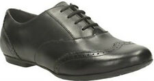 GIRLS CLARKS BOOTLEG TIZZ HONEY F,G,H FITTING LACE UP BROGUE STYLE SCHOOL SHOES