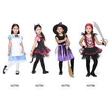 Cute Catwoman/Witch/Pirate Costumes Halloween Fancy Dress Girls Cosplay TA H0T7