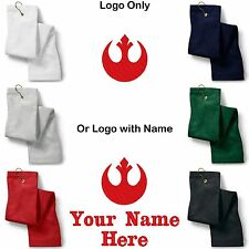 STAR WARS Rebel Logo Embroidered Golf/Sport Towel Reg. or Custom/Personalized
