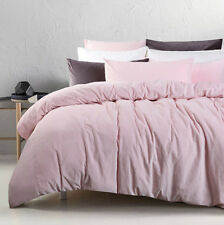 Blush - Cotton Velvet Quilt Doona Cover Set QUEEN KING Super KING European Pcs
