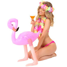 INFLATABLE FLAMINGO 68CM PINK TROPICAL BIRD BLOW UP ANIMAL DECORATION PROP