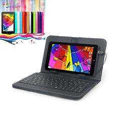 """7"""" HD Tablet PC Quad Core Google Android 4.4 8GB Dual Camera 1.2GHz w/ Keyboad"""