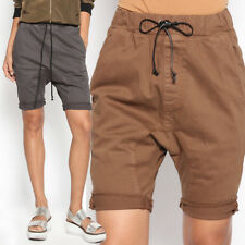 TheMogan Women's Drawstring Drop Crotch Shorts Harem Style Jogger Short Pants