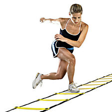 4M Soccer Agility Training Football Fitness Foot Speed Ladder + Carry Bag