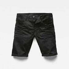 NWT Men's G-Star Raw 3301 Deconstructed 1/2 Shorts Black Rinsed Stretch Size 36