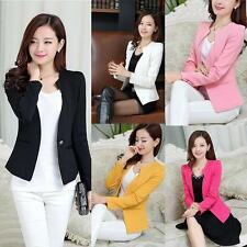 Vouge Women Slim Blazer Coat Casual Jacket Long Sleeve One Button Suit Work Wear