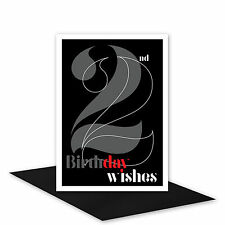 22nd Birthday Wishes card for her or him 22 Happy birthday card for girl boy man