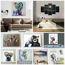 Modern Wall Art Canvas Printed Decor Sunset Seascape Picture Home Unframed HK