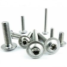 Flange Bolts Button Head Dome Allen Screws Stainless Steel M5 A2