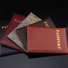 New Passport Holder Protector Cover Wallet PU Leather Card Cover Travel EF