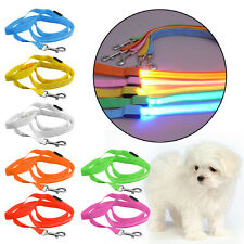 Strong Nylon Dog Pet Lead Leash with Clip for Collar Harness Led Safty Lighting