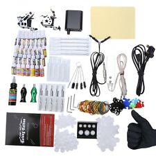 Complete Tattoo Kit 10 Wrap Coils Guns Machine Power Supply SCA