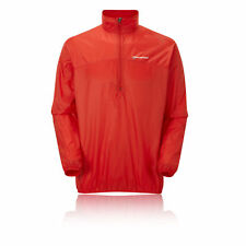 Montane Featherlite Mens Red Water Resistant Windproof Pull On Trail Top New