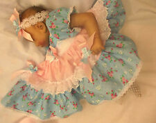 DREAM BABY SPANISH ROMANY DRESS PANTS HBD NB 0-3 3-6 6-12 MONTHS OR REBORN DOLLS