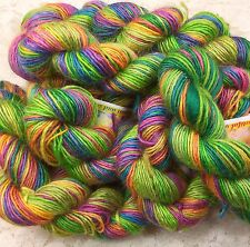 hand dyed Yarn 100 yds blu faced leicester citrus brights