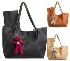 Womens Ladies Slouch Shoulder Bags Fashion Leather Style Boho Tote Shoulder Bag