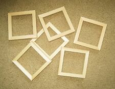 """Unfinished wood picture frames (various sizes) lot of 6 in a  5/8"""" wide moulding"""