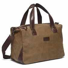 Vintage men canvas travel duffle weekend bag lightweight luggage sport gym bags