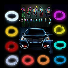 Led EL Wire Tube Rope Flexible Neon Glow Car Party Decor Light Controller New