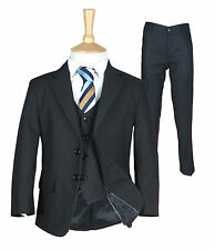 Boys Formal Black Suit, Italian Page Boy Wedding Prom Communion  Black Suits