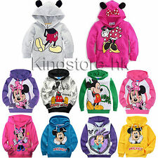1-9Y Kids Boys Girls Mickey Minnie Mouse Cotton Hoodies Sweatshirt Pullover Tops