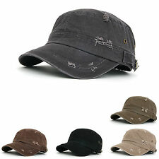 Mens Womens Classic Distressed Vintage Army Military Cadet Patrol Castro Cap Hat