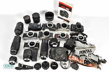 Grab Box of Pentax 35mm Camera Bodies and Accessories