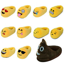 Unisex Emoji Soft Cute Cartoon Slippers Winter Warm Plush Indoor Home Slippers